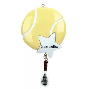Tennis Star Personalized Christmas Ornament