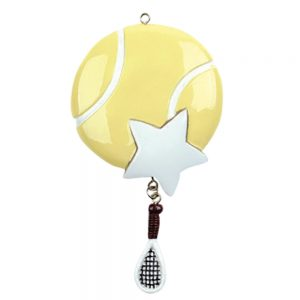 Tennis Star Personalized Christmas Ornament - Blank