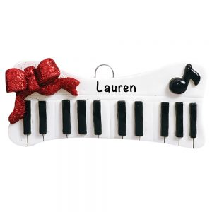 Keyboard Personalized Christmas Ornament
