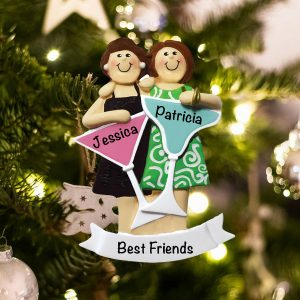 Personalized Girls Night Out 2 Christmas Ornament