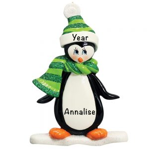 Penguin Personalized Christmas Ornament