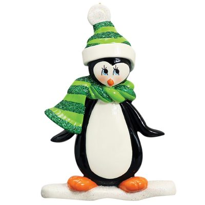 Penguin Personalized Christmas Ornament Blank
