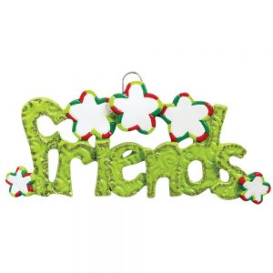 Friends Personalized Christmas Ornament - Blank