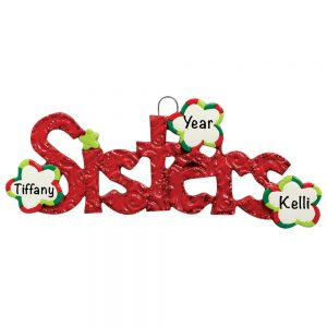 Sisters Personalized Christmas Ornament