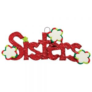 Sisters Personalized Christmas Ornament - Blank