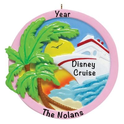 Sunset Cruise Personalized Christmas Ornament