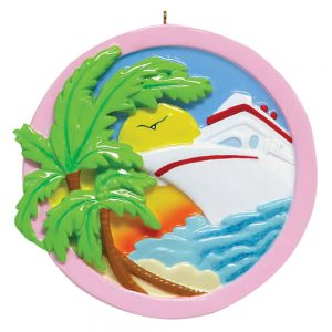 Sunset Cruise Personalized Christmas Ornament - Blank