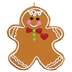 Gingerbread Man Cookie Personalized Christmas Ornament - Blank