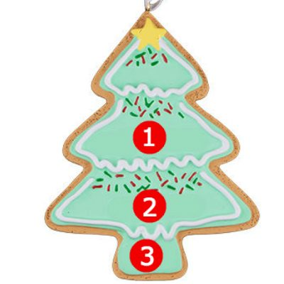 Christmas Tree Cookie Personalized Ornament