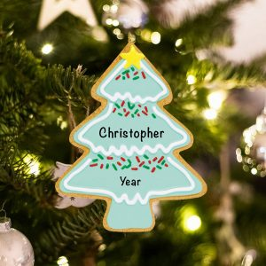 Personalized Gingerbread Christmas Tree Christmas Ornament