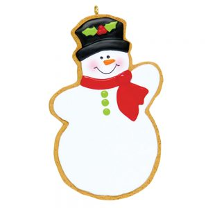 Gingerbread Christmas Snowman Personalized Christmas Ornament - Blank