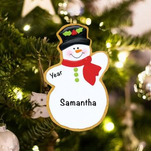Personalized Gingerbread Snowman Christmas Ornament