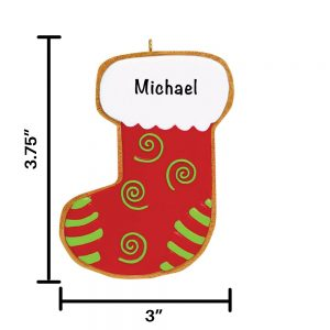 Stocking Cookie Personalized Christmas Ornament