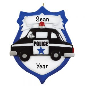 Police Emblem Personalized Christmas Ornament