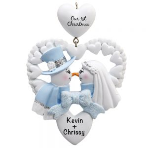 Snow Wedding Christmas Personalized Christmas Ornament