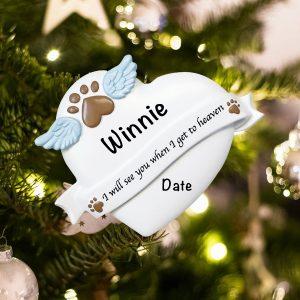 Personalized Pet Memorial Christmas Ornament
