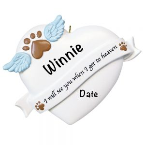 Pet Memorial Personalized Christmas Ornament