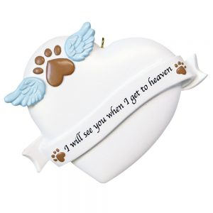 Pet Memorial Personalized Christmas Ornament - Blank