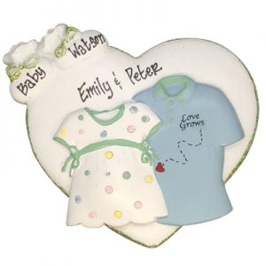 Love Grows Expecting Personalized Ornament