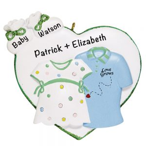Love Grows Personalized Christmas Ornament