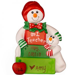 Snow #1 Teacher Personalized Ornament