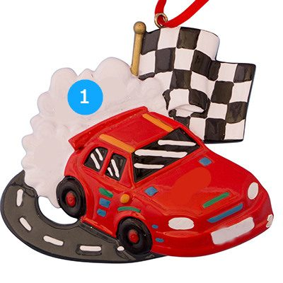 Race Car Personalized Ornament