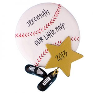 Baseball Star Personalized Ornament