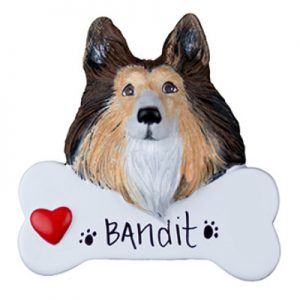 Collie Personalized Ornament