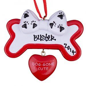 Dog Gone Cute Bone Personalized Ornament