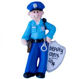 Police Man Personalized Ornament