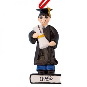 Guy Graduation Personalized Ornament