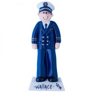 Navy Officer Personalized Ornament