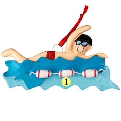 Swim Boy Personalized Ornament