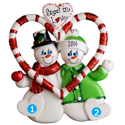 Candy Cane Love Couple Personalized Ornament