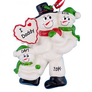 Dad With 2 Children Personalized Ornament