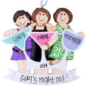 Party Girls (3) Night Out Personalized Ornament