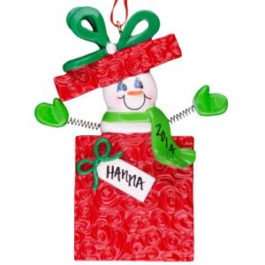 Snowman Gift Personalized Ornament