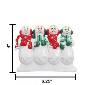 Snow Family of 4 Table Top