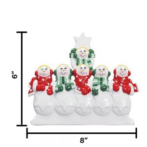 Snow Family of 6 Table Top