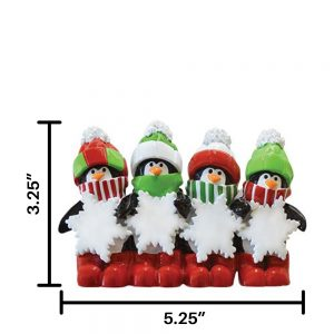 Penguin Family of 4 Table Top