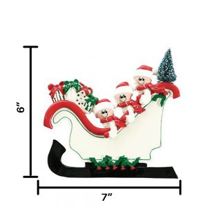 Sleigh Family of 3 Table Top