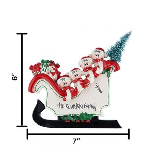Sleigh Family of 4 Table Top