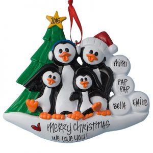 Petey Penguin Family Of 4