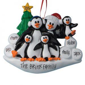 Petey Penguin Family Of 5