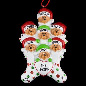 Stocking Cap Bears Family of 7