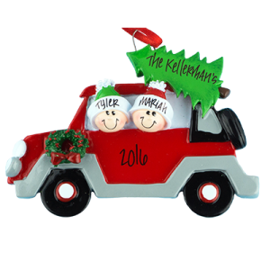 Car with Tree On Top Family of 2