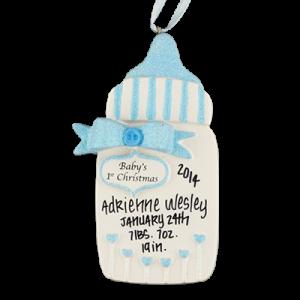 Blue Baby's 1st Christmas Bottle