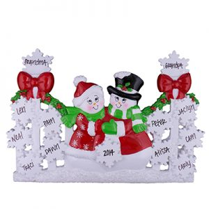 Red Gate Snowmen Family Table Top