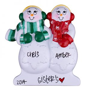 Snowmen Table Top Family of 2