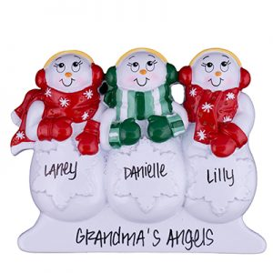 Snowmen Table Top Family of 3